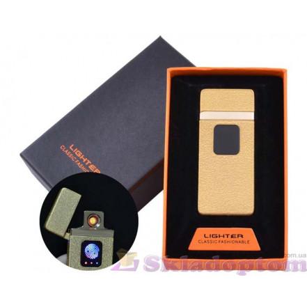 USB зажигалка в подарочной упаковке HL-7 Gold (Спираль накаливания)