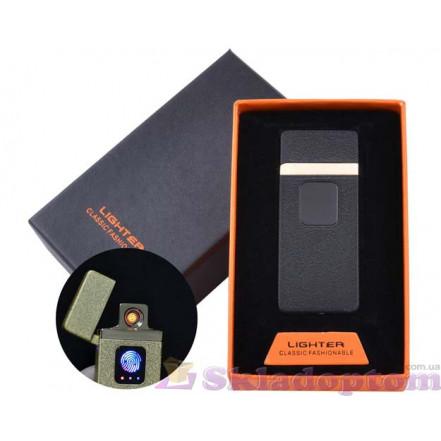 USB зажигалка в подарочной упаковке HL-7 Black (Спираль накаливания)