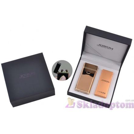Электроимпульсная USB зажигалка Jobon (Gold) 4883-2