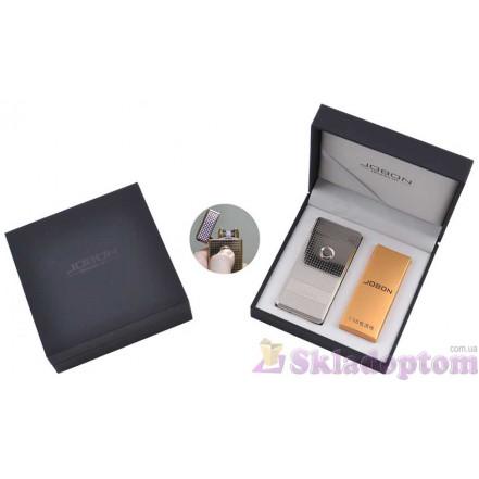 Электроимпульсная USB зажигалка Jobon (Silver) 4884-2 (Двойная молния)