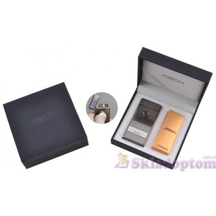 Электроимпульсная USB зажигалка Jobon (Titan) 4884-3 (Двойная молния)