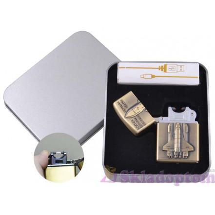 Электроимпульсная USB зажигалка в подарочной упаковке 4886-2 (Space Shattle)