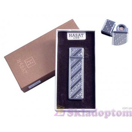 """USB зажигалка в подарочной упаковке 4800-1 """"Hasat"""" (Двухсторонняя спираль накаливания)"""