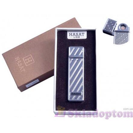 """USB зажигалка в подарочной упаковке 4800-10 """"Hasat"""" (Двухсторонняя спираль накаливания)"""