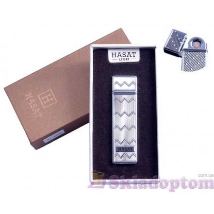 """USB зажигалка в подарочной упаковке 4800-2 """"Hasat"""" (Двухсторонняя спираль накаливания)"""