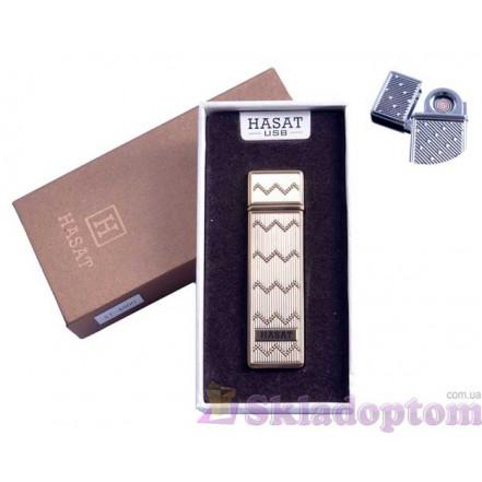"""USB зажигалка в подарочной упаковке 4800-3 """"Hasat"""" (Двухсторонняя спираль накаливания)"""