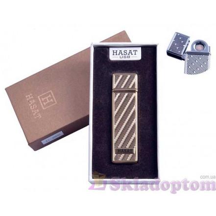 """USB зажигалка в подарочной упаковке 4800-4 """"Hasat"""" (Двухсторонняя спираль накаливания)"""