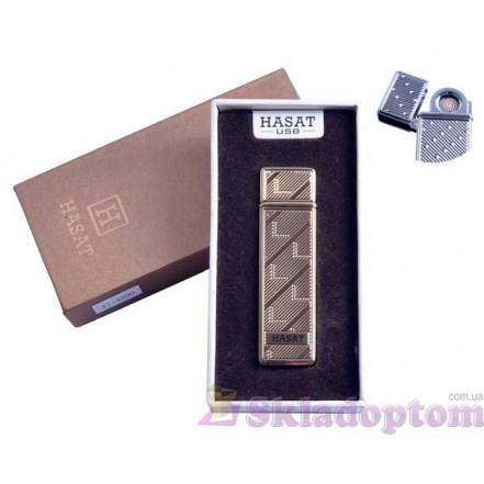 """USB зажигалка в подарочной упаковке 4800-5 """"Hasat"""" (Двухсторонняя спираль накаливания)"""