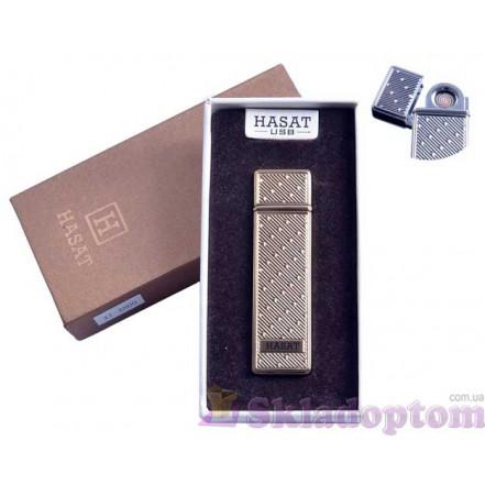 """USB зажигалка в подарочной упаковке 4800-6 """"Hasat"""" (Двухсторонняя спираль накаливания)"""