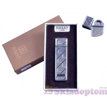 """USB зажигалка в подарочной упаковке 4800-7 """"Hasat"""" (Двухсторонняя спираль накаливания)"""
