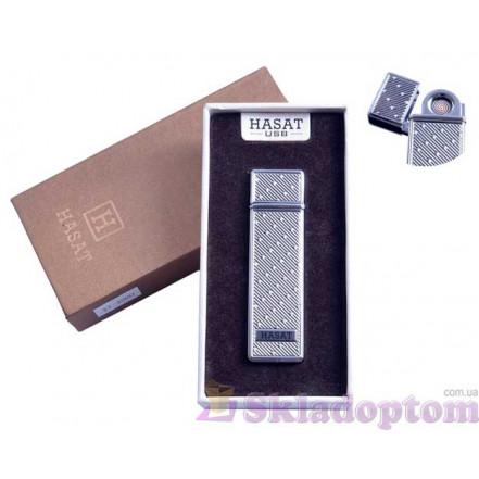 """USB зажигалка в подарочной упаковке 4800-8 """"Hasat"""" (Двухсторонняя спираль накаливания)"""