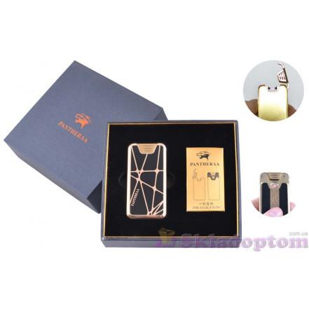 """USB зажигалка в подарочной упаковке """"Pantheraa"""" 4868-1 (Электроимпульсная + спираль накаливания)"""
