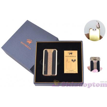 """USB зажигалка в подарочной упаковке """"Pantheraa"""" 4868-2 (Электроимпульсная + спираль накаливания)"""