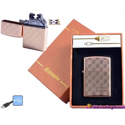 """USB зажигалка в подарочной упаковке 4777-1 (Электроимпульсная,""""HONGLU"""")"""