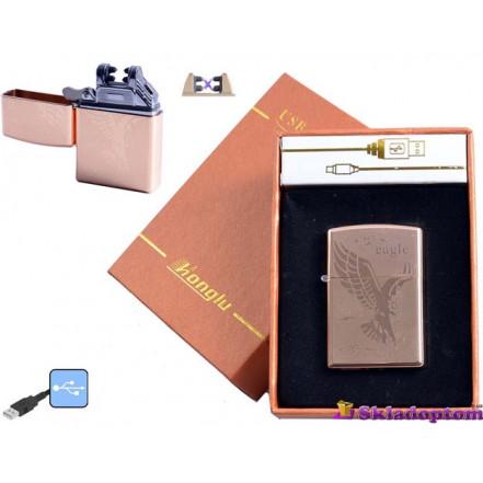 """USB зажигалка в подарочной упаковке 4777-2 (Электроимпульсная,""""HONGLU"""")"""