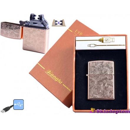 """USB зажигалка в подарочной упаковке 4777-3 (Электроимпульсная,""""HONGLU"""")"""