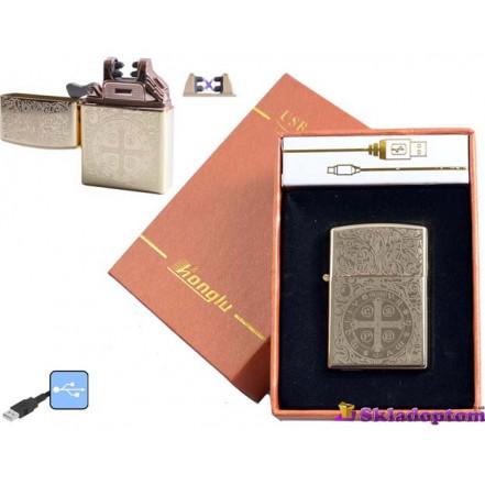 """USB зажигалка в подарочной упаковке 4777-4 (Электроимпульсная,""""HONGLU"""")"""