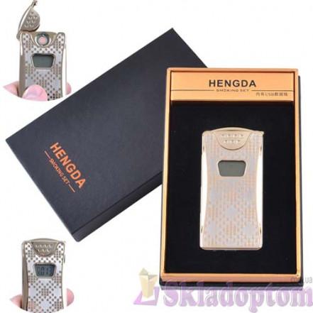 """USB зажигалка в подарочной упаковке 4873-2 (""""HENGDA"""",спираль накаливания,счетчик)"""