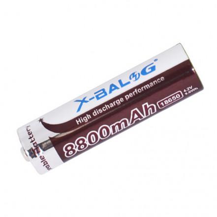 Аккумулятор 18650, X-Balog, 8800mAh, коричневый