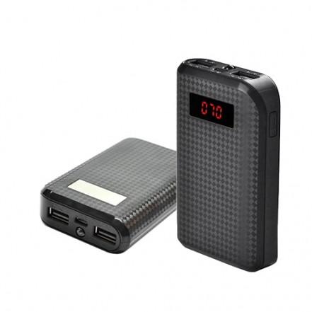 Power Bank REMAX PRODA 10000mAh 2USB(1A+2A), цифровой дисплей, фонарик 1LED -132 (4500)