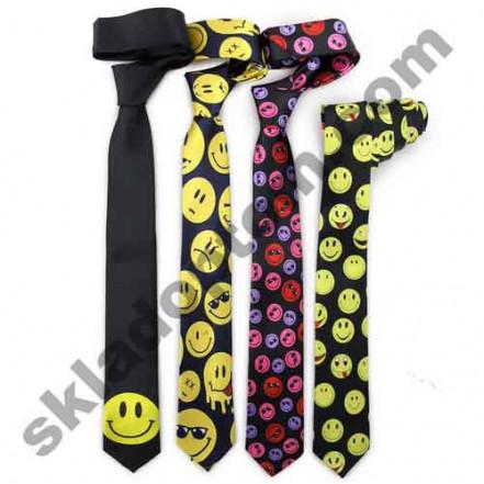 Прикольный галстук Смайлы