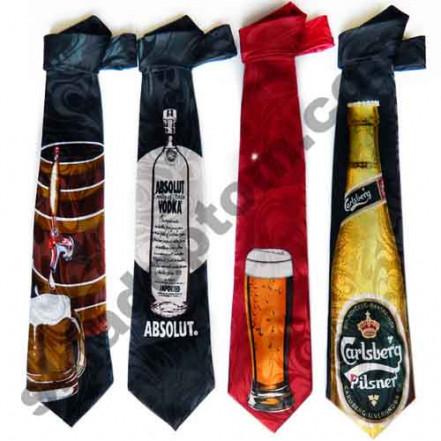 Прикольный галстук Alcohol