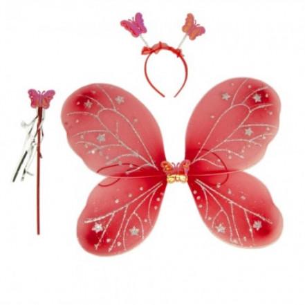 Набор Бабочки 45х35см (красный)