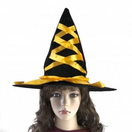 Шляпа Ведьмы с лентой желтой