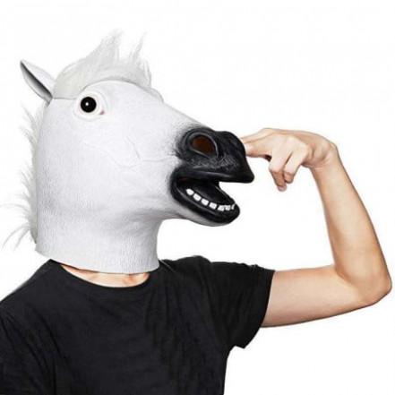 Маска латексная Лошадь (белая)