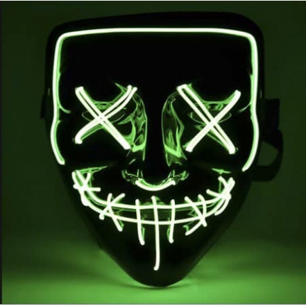 Маска Анонимуса неоновая (зеленая)