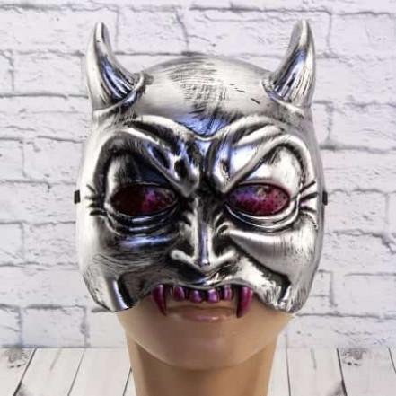 Полумаска Демон (серебро)