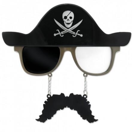 Очки Пират в шляпе с усами