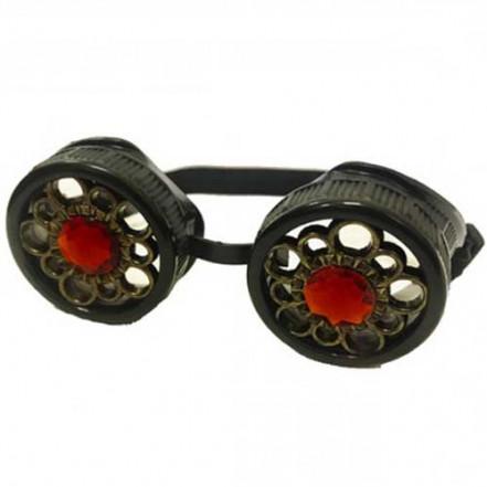 Очки Стимпанк с кристаллами (черные)