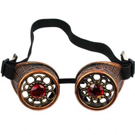 Очки Стимпанк с кристаллами (бронза)