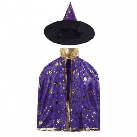 Маскарадный костюм Волшебник (фиолетовый)