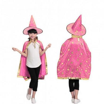 Маскарадный костюм Волшебник (розовый)