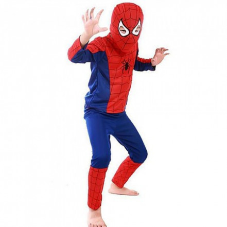 Маскарадный костюм Спайдермен синий (размер S)