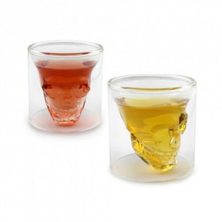 Стакан с двойными стенками Череп в стакане 70 мл