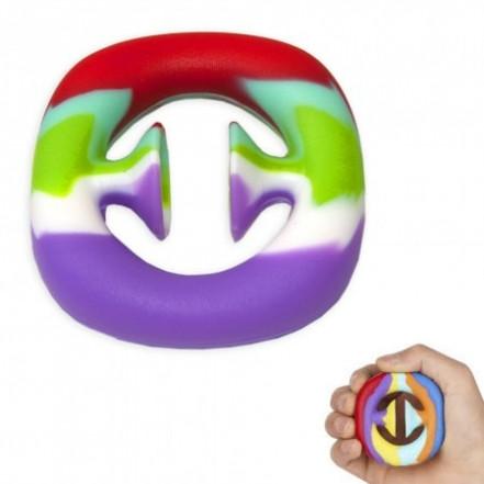 Антистресс игрушка Pop It Эспандер снаппер (радуга)