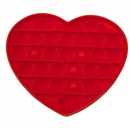 Антистресс игрушка Pop It Сердце (три цвета)