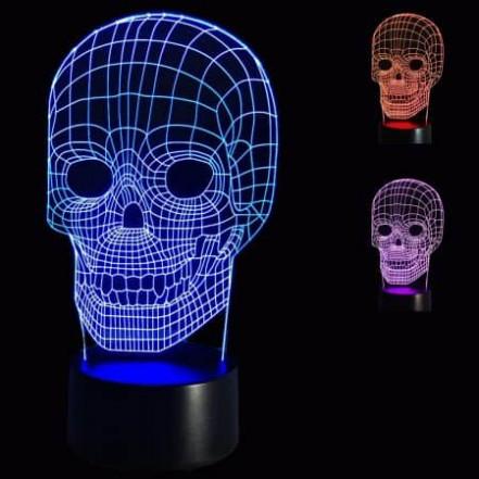 3D Светильник Череп 13-13