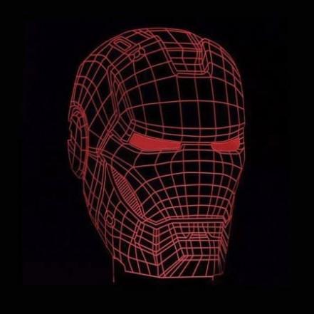 3D Светильник Маска Железного человека 13-15