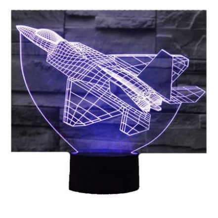 3D Светильник Самолет 13-18