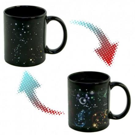 Чашка хамелеон Звездное небо 12 Созвездий