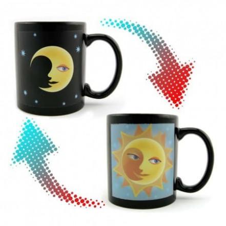 Чашка хамелеон Солнце и Луна