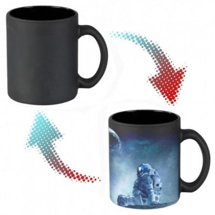 Чашка хамелеон 66154 Моя Земля (черная)