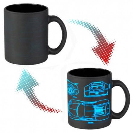 Чашка хамелеон 66052 ЧРЖ Bugatti neon (черная)