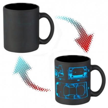 Чашка хамелеон 66054 ЧРЖ Ferrari neon (черная)