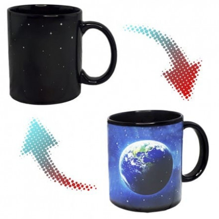 Чашка хамелеон Земля