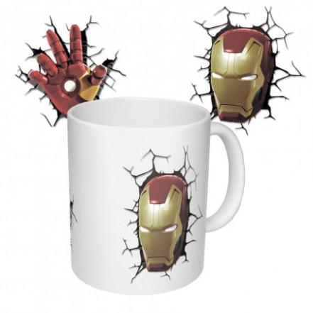 Чашка с принтом 63309 Железный человек